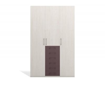 Armoire à portes battantes avec tiroirs