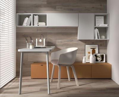 Bureau avec 4 tiroirs et ensemble d'étagères