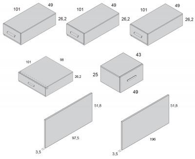 Lit compact avec escalier et 5 tiroirs